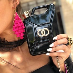 Handbags - Fabulous Black Durable Flask Clutch